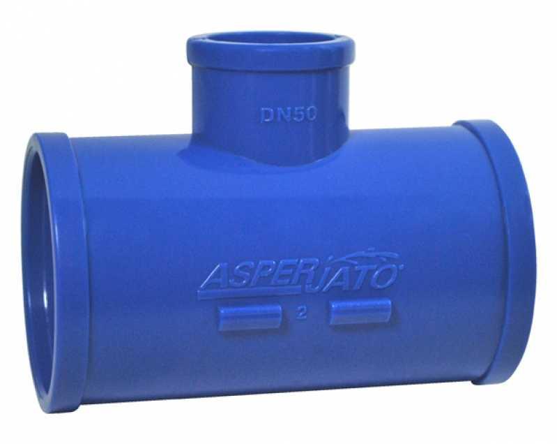 Tê para Irrigação Azul Soldável