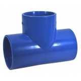 serviço de tê para irrigação azul soldável Eunápolis